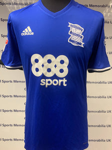 Match Worn / Issued Signed Birmingham City Shirts (Headway Brain Injury Shirt) vs Newcastle 18/03/17