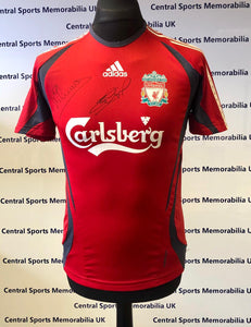 Liverpool FC Training Top Signed by Michael Owen and Steven Gerrard