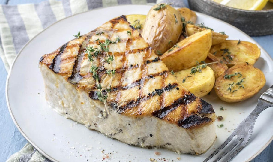 Pan Roasted Swordfish Dinner
