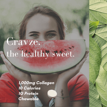 Load image into Gallery viewer, Cravze collagen chewable tablets watermelon flavor
