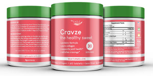 Cravze Collagen Chewable Tablets with Protein - Watermelon