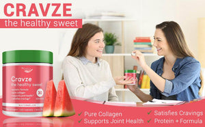 Cravze - the healthy sweet. Collagen chewable tablets watermelon flavor