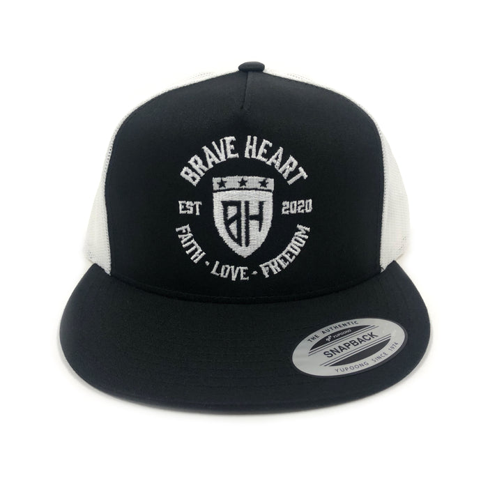 Brave Heart Inspired - Flat Badge Mesh Back Hat