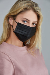 Black Disposable Mask  (5 or 10 pack)