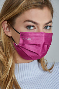 Hot Pink Disposable Mask  (5 or 10 pack)