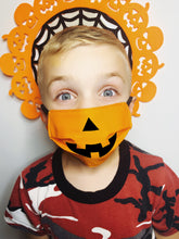 Load image into Gallery viewer, Kids Jack O Lantern Mask