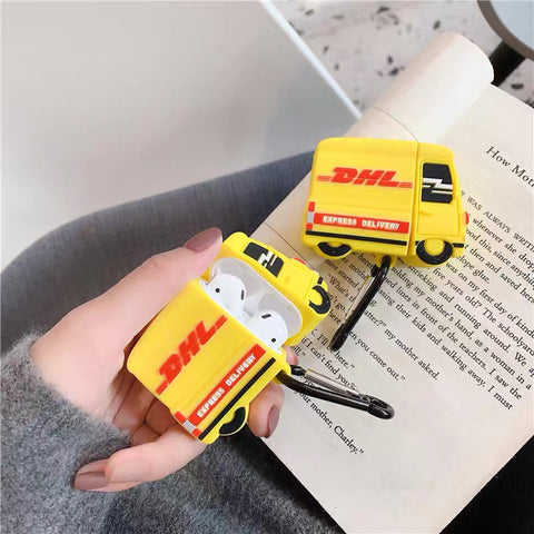 DHL Truck Airpods Case