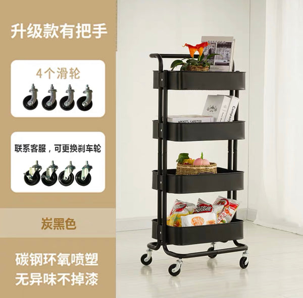 3 Tier Multifunctional Trolley Utility Cart