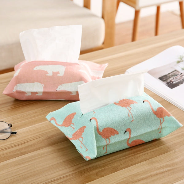 9 Designs Linen Tissue Holder