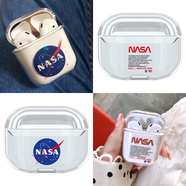 Clear NASA Blue Red AirPods Case