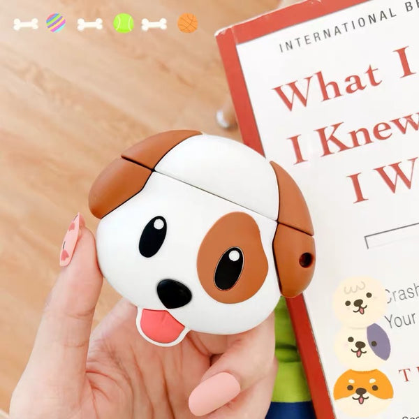 Dog Emoji AirPods Case