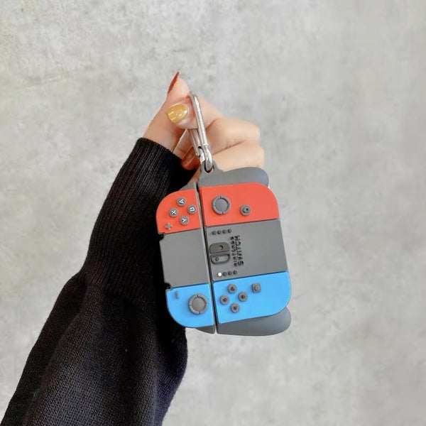 Nintendo Switch with grip AirPods Pro Case