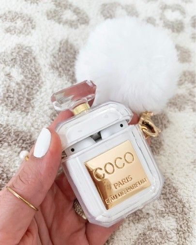 Coco Perfume Clear AirPods Case