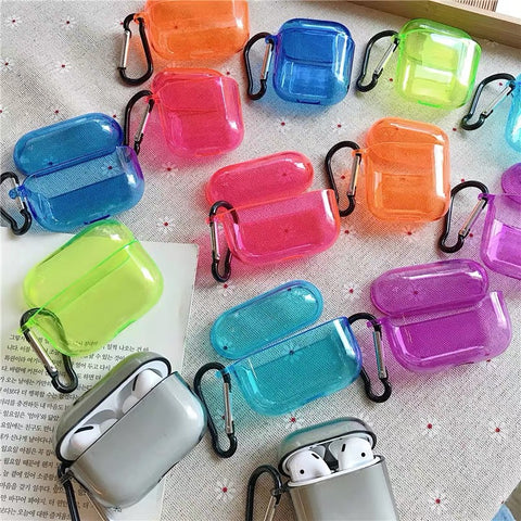 Clear Neon AirPods Pro Case