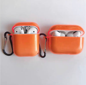 Clear Neon AirPods Cases