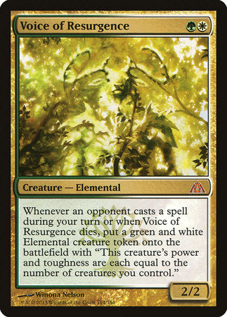 Voice of Resurgence [Dragon's Maze] | Gators Games and Hobby