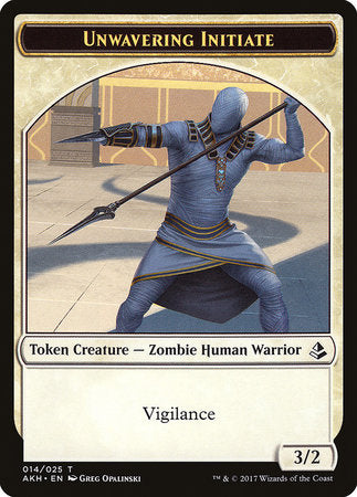 Unwavering Initiate Token [Amonkhet Tokens] | Gators Games and Hobby