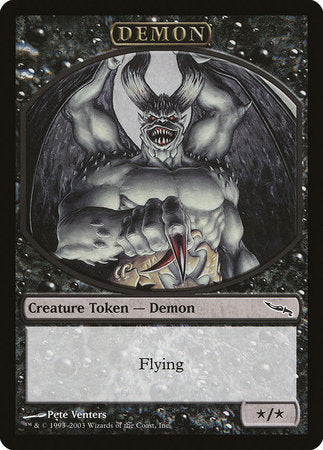 Demon Token (Mirrodin) [Magic Player Rewards 2003] | Gators Games and Hobby