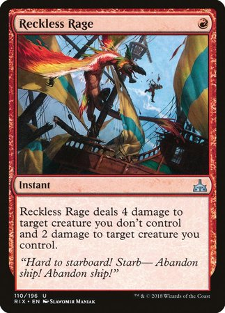 Reckless Rage [Rivals of Ixalan] | Gators Games and Hobby