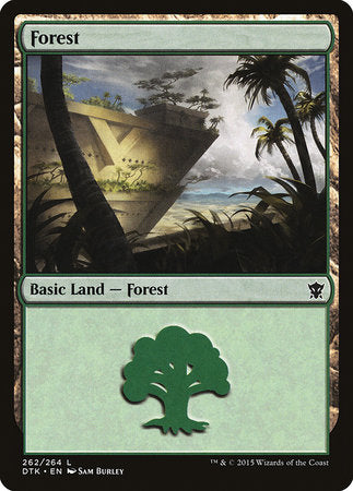 Forest (262) [Dragons of Tarkir] | Gators Games and Hobby