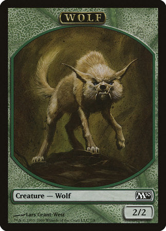Wolf Token [Magic 2010 Tokens] | Gators Games and Hobby