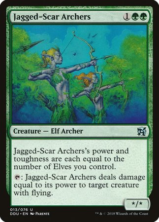 Jagged-Scar Archers [Duel Decks: Elves vs. Inventors] | Gators Games and Hobby