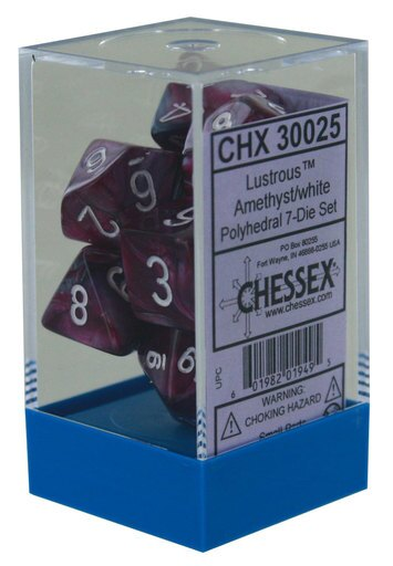 lab dice amethyst/white | Gators Games and Hobby