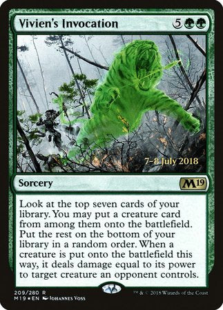 Vivien's Invocation [Core Set 2019 Promos] | Gators Games and Hobby