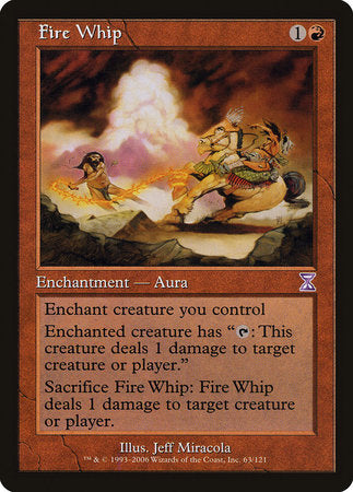 Fire Whip [Time Spiral Timeshifted] | Gators Games and Hobby