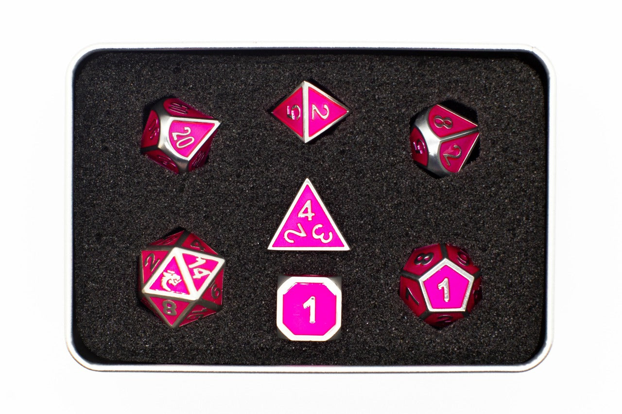 Old School 7-Piece Set: Elven Forged - Metallic Pink | Gators Games and Hobby