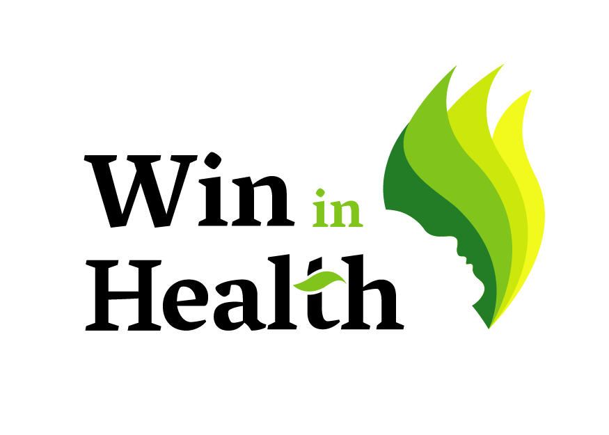 Final logo and brand for win in health