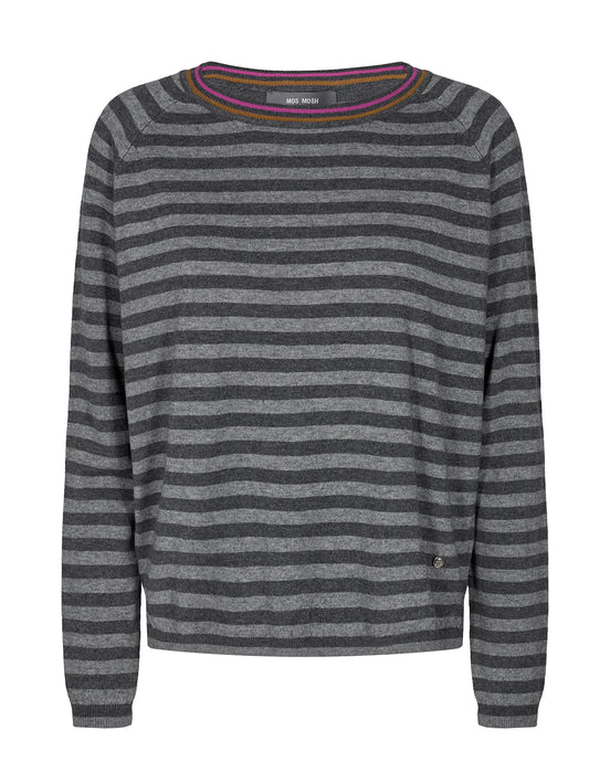 Grey Wyn Stripe Knit
