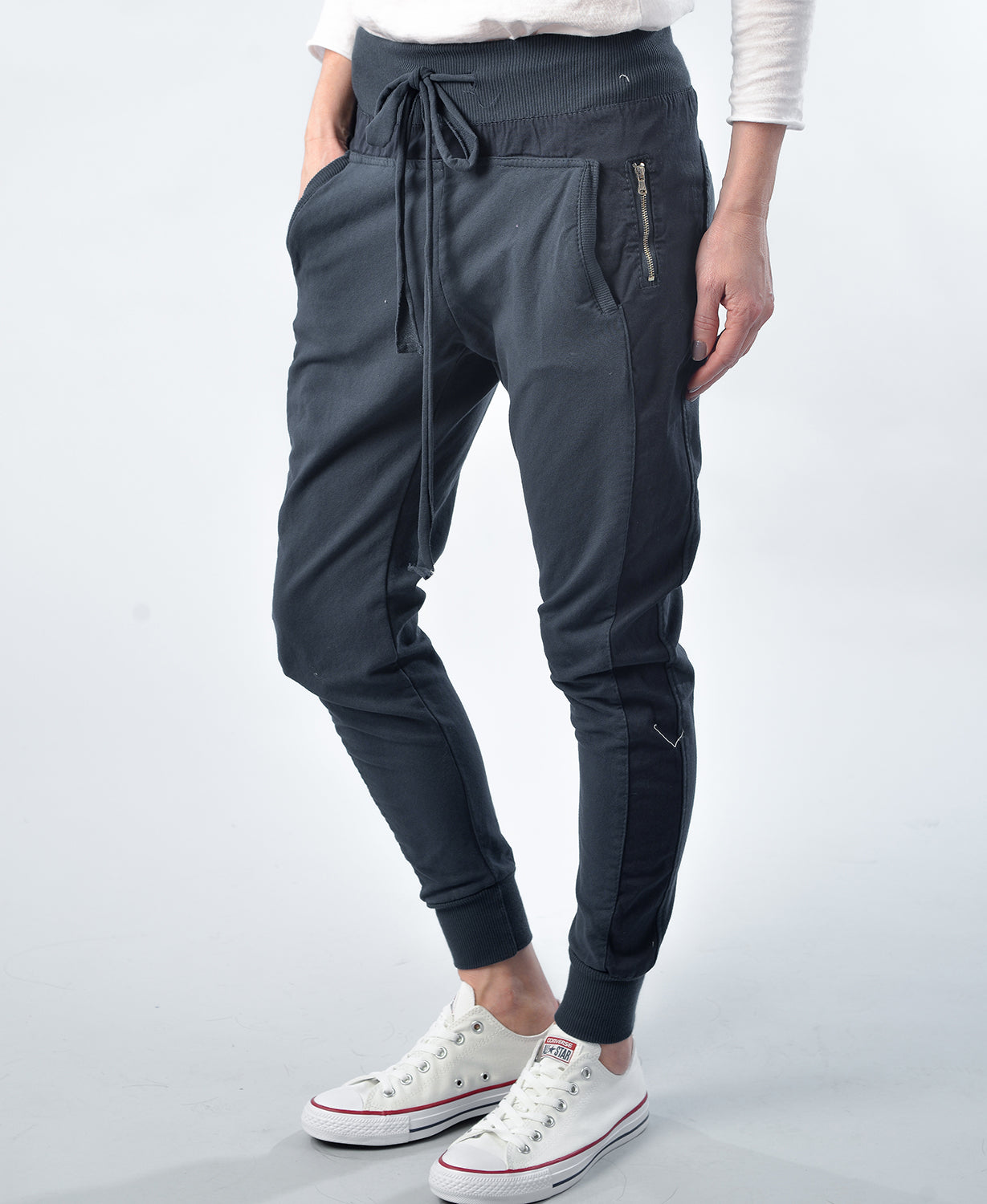 Cotton Joggers - Navy