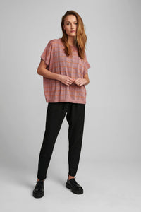 Pink Lurex S/S top