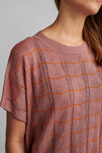 Load image into Gallery viewer, Pink Lurex S/S top