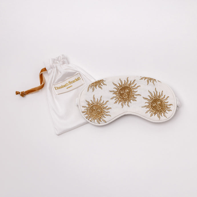 Sun Goddess White Eye Mask