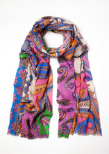 Load image into Gallery viewer, Vivid Paisley Scarf