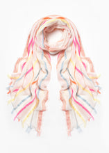 Load image into Gallery viewer, Neon Stripe Cotton Scarf