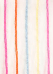 Neon Stripe Cotton Scarf