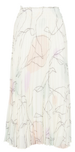 Load image into Gallery viewer, FONDA - White Printed pleated midi skirt