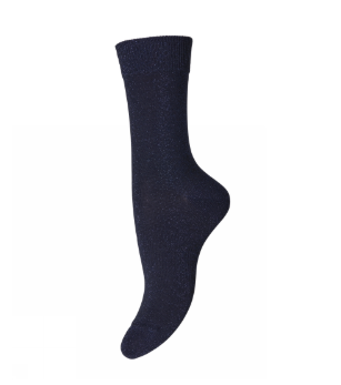 Navy Glitter Socks