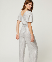 Load image into Gallery viewer, Silver Stripe Combi-Pantalon Thelma