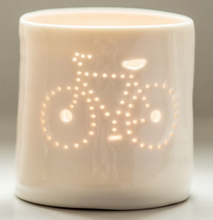 Load image into Gallery viewer, Porcelain Bike mini tealight holder