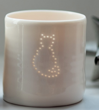 Load image into Gallery viewer, Porcelain cat mini tealight holder