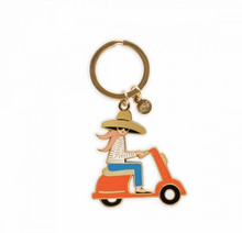 Load image into Gallery viewer, Scooter Girl Keychain