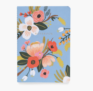 Lively Floral Stitched Notebooks