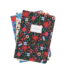 Wild Rose Stitched Notebooks