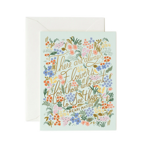 Matisse Flower Quote Card