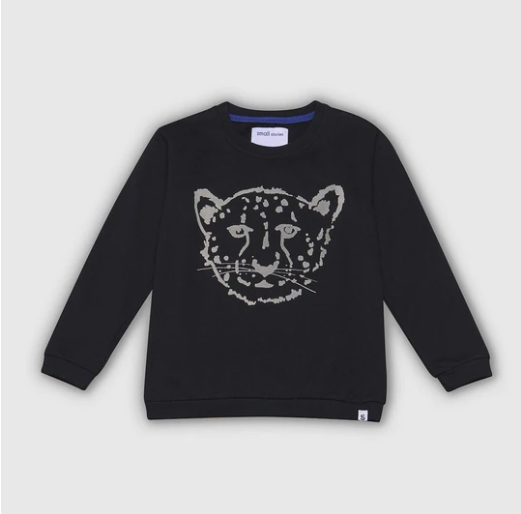 Cheetah Black Sweatshirt