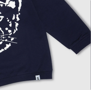 Cheetah Navy Sweatshirt
